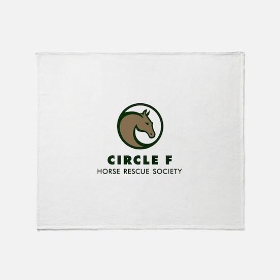 Circle F logo Throw Blanket