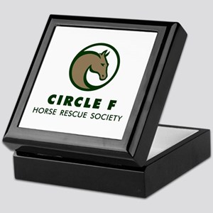 Circle F logo Keepsake Box in brown, black
