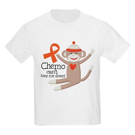 Leukemia Chemo Sock Monkey Kids Light T-Shirt