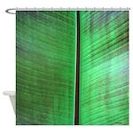 Banana Leaf Tropical Shower Curtain