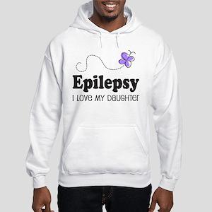 Epilepsy I Love My Daughter Hooded Sweatshirt