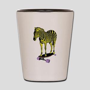 zebra skate Shot Glass