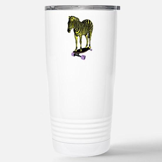 zebra skate Stainless Steel Travel Mug