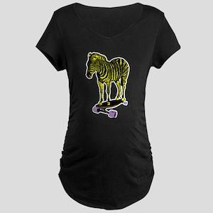 zebra skate Maternity Dark T-Shirt
