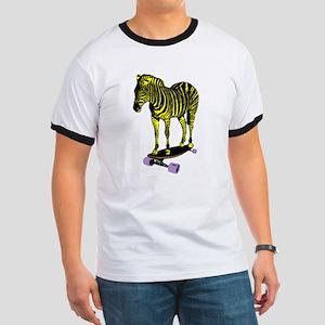 zebra skate Ringer T