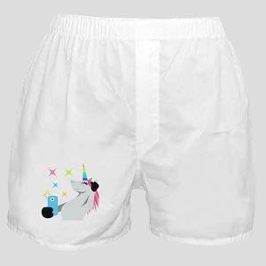 Unicorn Selfie Emoji Boxer Shorts