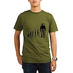 Robot Evolution Organic Men's T-Shirt (dark)