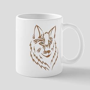 Brown Wolf Tribal Tattoo Mug