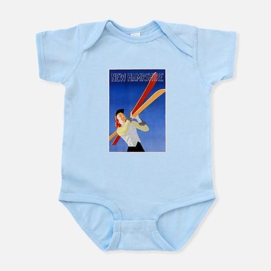 New Hampshire Travel Poster 1 Infant Bodysuit
