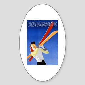 New Hampshire Travel Poster 1 Sticker (Oval)