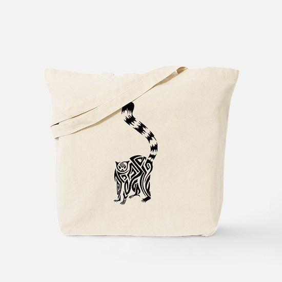 Black Lemur Tote Bag