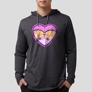 Frilly Heart Butt Mens Hooded Shirt