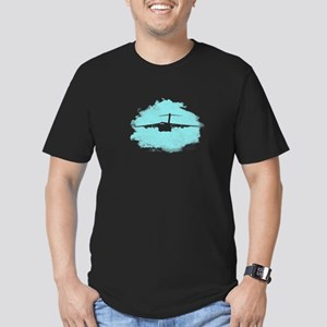 C-17 aircraft silhouette Men's Fitted T-Shirt (dar