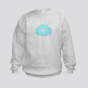 C-17 aircraft silhouette Kids Sweatshirt