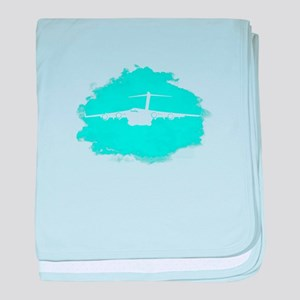 C-17 aircraft silhouette baby blanket