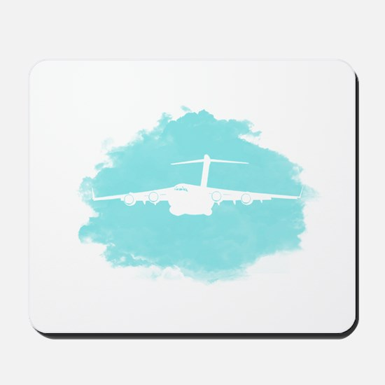 C-17 aircraft silhouette Mousepad