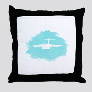 C-17 aircraft silhouette Throw Pillow