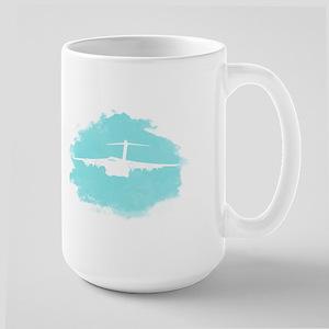C-17 aircraft silhouette Large Mug
