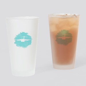 C-17 aircraft silhouette Drinking Glass