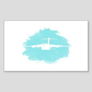 C-17 aircraft silhouette Sticker (Rectangle)