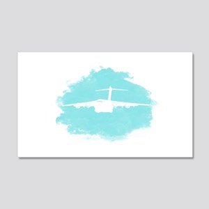 C-17 aircraft silhouette 20x12 Wall Decal