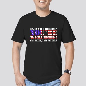 You're Welcome: Veteran Men's Fitted T-Shirt (dark