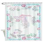 Vintage Florida Tablecloth Shower Curtain