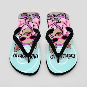 ba2168c03 Cartoon Dog Flip Flops - CafePress