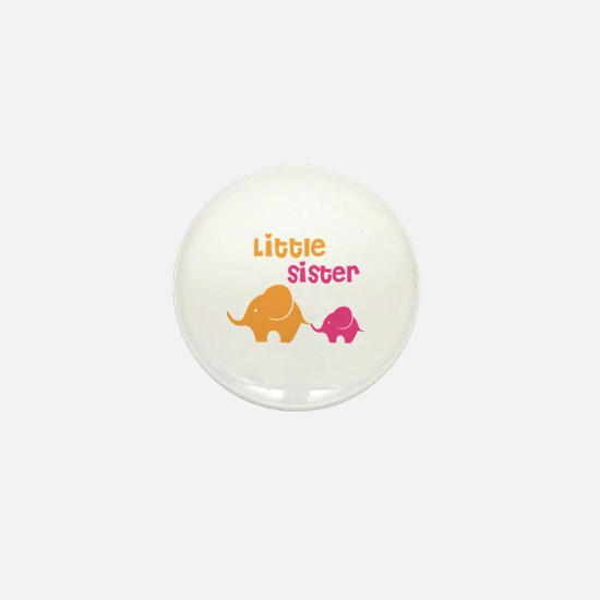Little sister elephant Mini Button