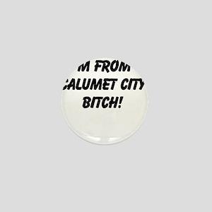 Im from Calumet City Bitch Mini Button