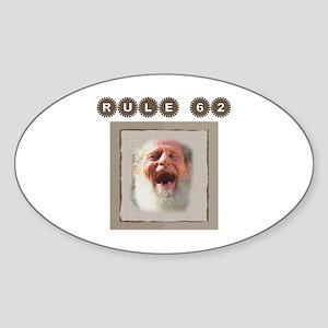 Rule 62~Old Man~950x950 Sticker (Oval)