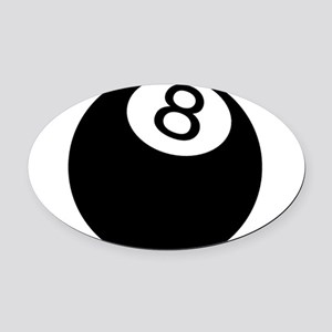 8 Ball Oval Car Magnet