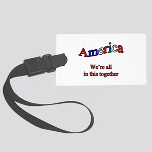 America3 copy Large Luggage Tag