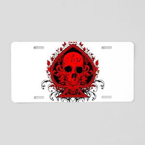 Ace Skull Aluminum License Plate