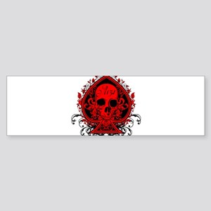 Ace Skull Sticker (Bumper)
