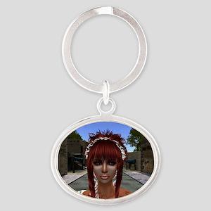 Aphrodite Oval Keychain