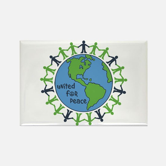 United For Peace Rectangle Magnet