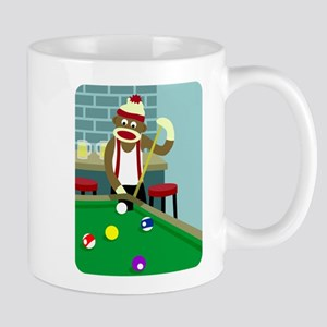 Sock Monkey Pool Billiards Coffee Mug