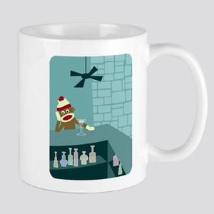 Sock Monkey Martini Bar Coffee Mug