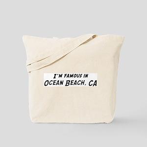 Famous in Ocean Beach Tote Bag
