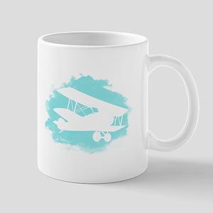Biplane Cloud Silhouette Mug