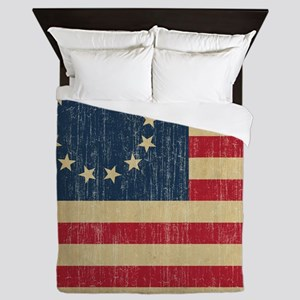 Vintage Betsy Ross Flag Queen Duvet