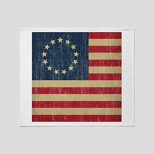 Vintage Betsy Ross Flag Throw Blanket