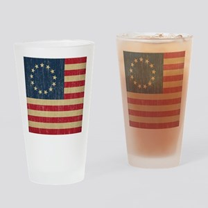 Vintage Betsy Ross Flag Drinking Glass
