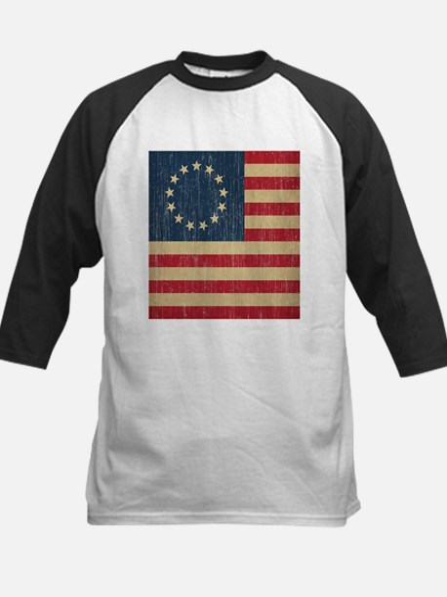 Vintage Betsy Ross Flag Kids Baseball Jersey
