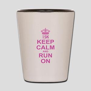 run pink 13.1 Shot Glass