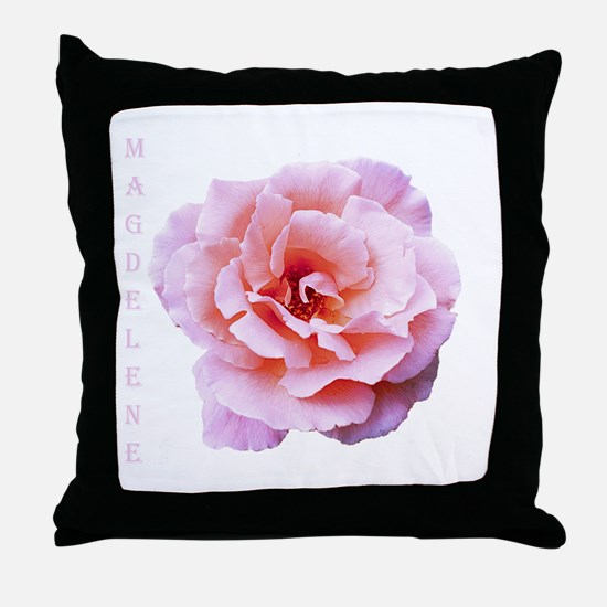 Mary Magdalene Rose Throw Pillow