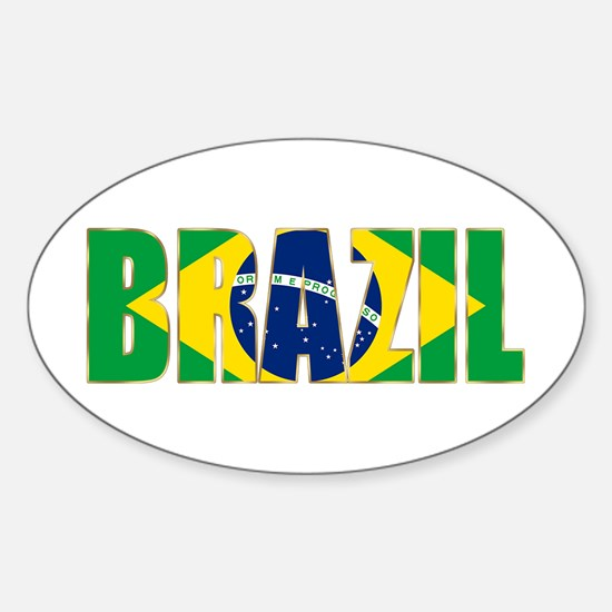 Brazil Sticker (Oval)