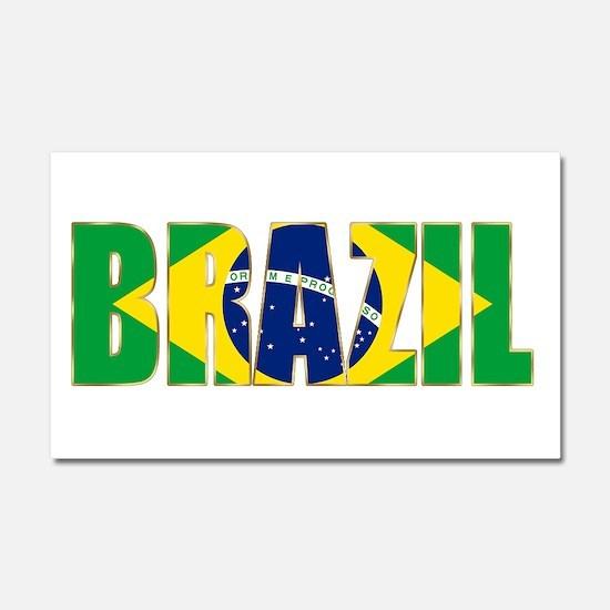 Brazil Car Magnet 20 x 12