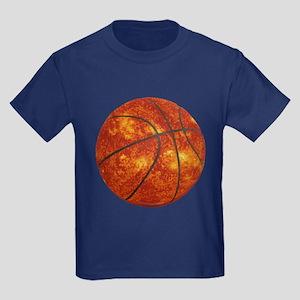 Basketball Sun Kids Dark T-Shirt